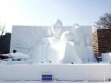 『第70回さっぽろ雪まつり』に2年ぶりにスター・ウォーズの大雪像が登場。『白いスター・ウォーズ2019』 (C)ORICON NewS inc.