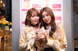 『IZ*ONE「好きと言わせたい」バレンタイン・カフェ』を訪れた(左から)宮脇咲良、カン・ヘウォン(C)OFF THE RECORD
