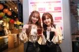 MAGNET by SHIBUYA109の7F『IZ*ONE「好きと言わせたい」バレンタイン・カフェ』を訪れたIZ*ONE(左から)キム・チェウォン、本田仁美(C)OFF THE RECORD