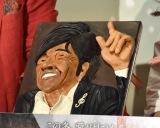 松崎しげるの顔がデザインされたチョコレート=映画『素晴らしきかな、人生』バレンタインデー直前イベント (C)ORICON NewS inc.