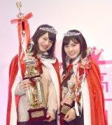 (左から)『女子高生ミスコン2018』グランプリのあれんさん、準グランプリのみゆんさん (C)ORICON NewS inc.