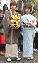 映画『トラさん〜僕が猫になったワケ〜』のヒット祈願イベントに出席した(左から)北山宏光、多部未華子 (C)ORICON NewS inc.