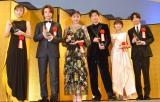 (左から)松岡茉優、中村倫也、永野芽郁、田中圭、葵わかな、志尊淳 (C)ORICON NewS inc.