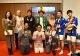 (左上から)上田まりえ、みょーちゃん、山田ちゃーはん、フルールおじさんとっしー、岩ちゃん、ラストライド(左下から)安田団長、オキシジェン (C)ORICON NewS inc.