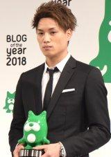 『BLOG of the year 2018』で優秀賞を受賞した鈴木伸之 (C)ORICON NewS inc.