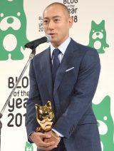 スピーチする市川海老蔵=『BLOG of the year 2018』授賞式 (C)ORICON NewS inc.