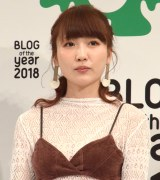 『BLOG of the year 2018』で優秀賞を受賞した桃 (C)ORICON NewS inc.