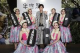 福島県のスパリゾートハワイアンズで行われた映画『半世界』イベントに登壇した稲垣吾郎(C)2018「半世界」FILM PARTNERS 配給:キノフィルムズ