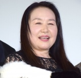 映画『洗骨』公開記念舞台あいさつに登壇した大島蓉子