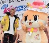 『「K'FESTA.2」3.10さいたま大会サンテンイチゼロK-1』トークショーに出席した武尊(左)、ちぃたん☆ (C)ORICON NewS inc.