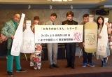 (左から)レイザーラモンRG、高野祐衣、ガリットチュウ(熊谷岳大、福島善成)、大、椿鬼奴 (C)ORICON NewS inc.