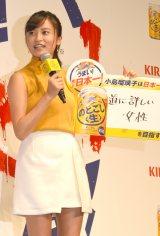 『キリン のどごし<生>』14年連続売上日本一祝い筆入れ式に出席した小島瑠璃子 (C)ORICON NewS inc.