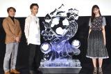 映画『雪の華』大ヒット御礼イベントに出席した(左から)橋本光二郎監督、登坂広臣、中条あやみ (C)ORICON NewS inc.