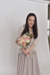 笑顔で撮影を終えた仲間由紀恵