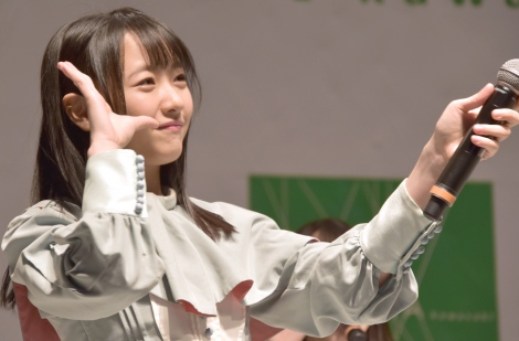 石田千穂=STU48 2ndシングル「風を待つ」発売イベント (C)ORICON NewS inc.