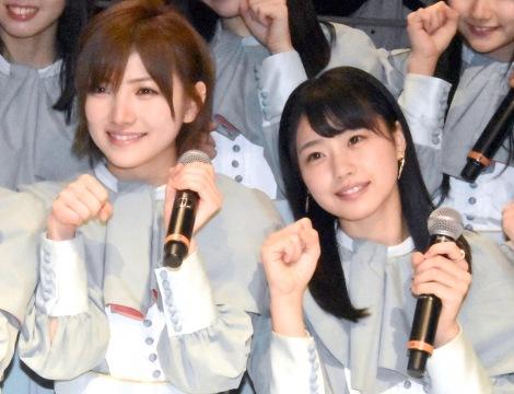 「指原さんが後悔するようなグループに」と意気込んだ(左から)STU48岡田奈々、瀧野由美子 (C)ORICON NewS inc.