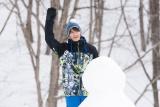 土曜ナイトドラマ『僕の初恋をキミに捧ぐ』第5話(2月16日放送)より。雪だるまつくったの?(C)テレビ朝日