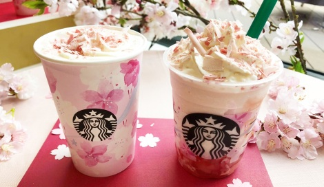 """サムネイル 春恒例の""""SAKURA""""シリーズが今年も登場、満開の桜をイメージした華やかなドリンクに (C)oricon ME inc."""