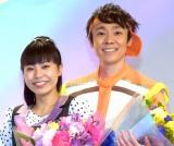 (左から)「パント!のお姉さん」上原りさ、「第11代体操のお兄さん」小林よしひさ (C)ORICON NewS inc.