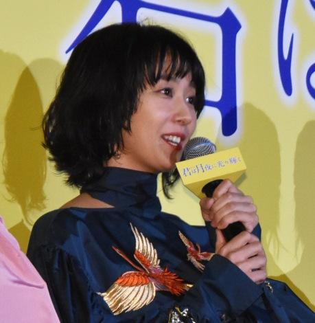 映画『君は月夜に光り輝く』完成披露舞台あいさつに登壇した優香 (C)ORICON NewS inc.