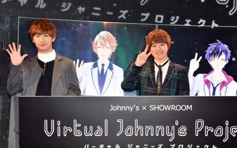 ジャニーズ初のバーチャルアイドル(左から)藤原丈一郎(海堂飛鳥)、大橋和也(苺谷星空)=『Johnny's × SHOWROOM「バーチャルジャニーズプロジェクト」』の記者会見 (C)ORICON NewS inc.