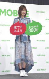 『LINEモバイル』記者発表会に参加した本田翼 (C)ORICON NewS inc.