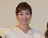 映画『まく子』の完成披露上映会の舞台あいさつに出席した須藤理彩 (C)ORICON NewS inc.