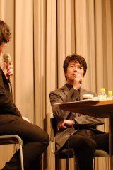 新文芸坐追悼特集上映『新宿純愛物語』トークショーに出席した仲村トオル