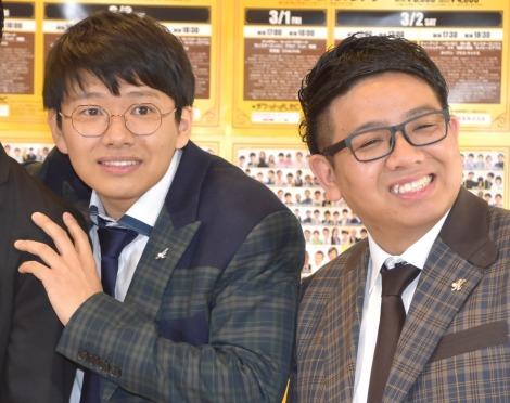 『大阪よしもと漫才博覧会〜この中に絶対いる!〜』開催会見に出席したミキ(左から)亜生、昴生 (C)ORICON NewS inc.