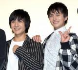 映画「ジャンクション29」完成披露舞台あいさつに出席した(左から)本田剛文、小林豊 (C)ORICON NewS inc.