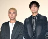 映画「ジャンクション29」完成披露舞台あいさつに出席した田中俊介、水野勝 (C)ORICON NewS inc.