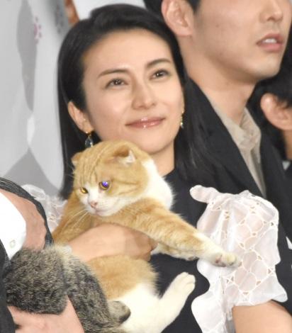 猫との生活を明かした柴咲コウ=映画『ねことじいちゃん』初日舞台あいさつ(C)ORICON NewS inc.