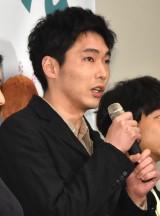 映画『ねことじいちゃん』初日舞台あいさつに登壇した柄本佑 (C)ORICON NewS inc.
