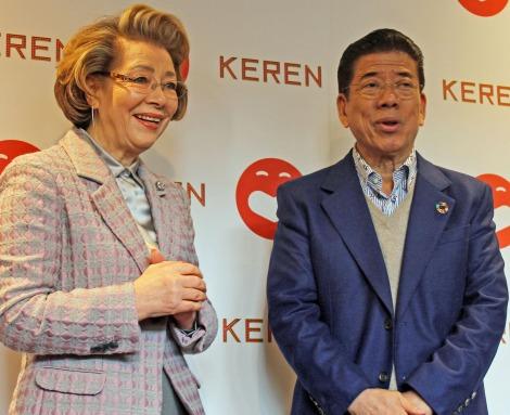 「COOL JAPAN PARK OSAKA」WWホールオープニング公演「KEREN(ケレン)」について語った西川きよし・ヘレン夫妻 (C)ORICON NewS inc.