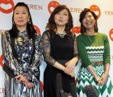 「COOL JAPAN PARK OSAKA」WWホールオープニング公演「KEREN(ケレン)」について語った(左から)ハイヒールリンゴ、ハイヒールモモコ、シルク(C)ORICON NewS inc.