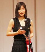 『第28回 東京スポーツ映画大賞』授賞式に出席した松岡茉優 (C)ORICON NewS inc.