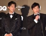 『GQ MEN OF THE YEAR 2018』を受賞した(左から)竹内涼真、田中圭(C)ORICON NewS inc.