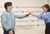 MCから顔に水をかけられ抗議する武田真治=ファッションブランド『D-VEC TOKYO EXCLUSIVE』オープニングイベント (C)ORICON NewS inc.