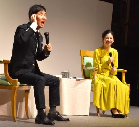 幼少期エピソードを幸せそうに語っていた(左から)関根勤、関根麻里=『朝日新聞ReライフFESTIVAL』に登場 (C)ORICON NewS inc.