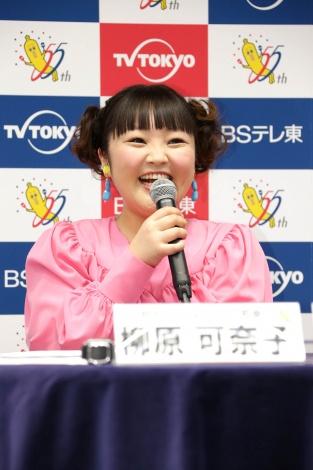 テレビ東京・BSテレ東4月編成会見に特別ゲストとして出席した柳原可奈子(C)テレビ東京