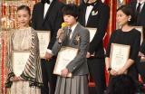 『第42回日本アカデミー賞』で新人俳優賞を受賞した(左から)趣里、平手友梨奈、芳根京子 (C)ORICON NewS inc.