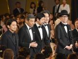 『第42回日本アカデミー賞』で主演男優賞を受賞した(左から)岡田准一、舘ひろし、濱津隆之、役所広司、リリー・フランキー (C)ORICON NewS inc.