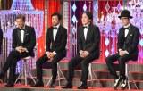 『第42回日本アカデミー賞』で主演男優賞を受賞した(左から)舘ひろし、濱津隆之、役所広司、リリー・フランキー (C)ORICON NewS inc.