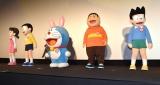 (左から)しずかちゃん、のび太、ドラえもん、ジャイアン、スネ夫=『映画ドラえもん のび太の月面探査記』公開記念舞台あいさつ (C)ORICON NewS inc.