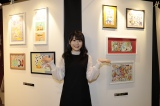 HKT48小田彩加がAKB48劇場ロビーで個展をスタート(C)AKS