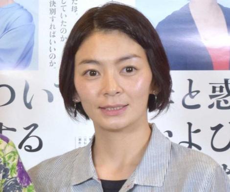 第1子男児を出産して以来、初めて公の場に姿を見せた田畑智子= 舞台『母と惑星について、および自転する女たちの記録』の公開フォトコール(C)ORICON NewS inc.