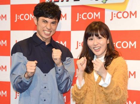 (左から)小島よしお、にしおかすみこ=『千葉のいいトコ自慢 わがまち対決』の公開収録 (C)ORICON NewS inc.