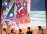(左から)松村沙友理、浜辺美波=『賭ケグルイseason2』完成披露イベント (C)ORICON NewS inc.