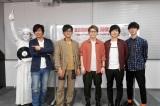 『Amuse Fes』事前特番に出演した(左から)TAKE(FLOW)、TAKE(SOS)、新藤晴一、KEIGO、山村隆太、奥野翔太