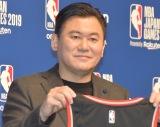 公式戦『NBA Japan Games 2019』開催発表会見に出席した楽天の三木谷浩史社長 (C)ORICON NewS inc.